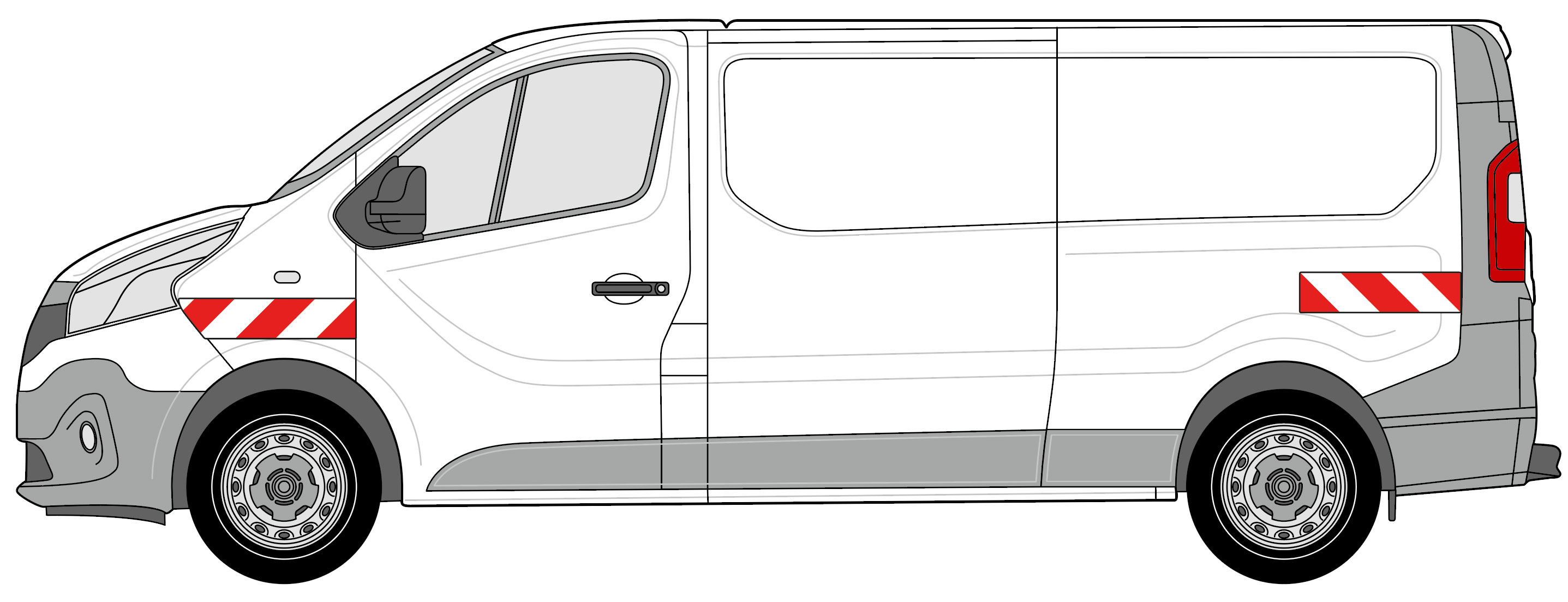 Renault Traffic Heckflügeltüren BJ 2014-2019
