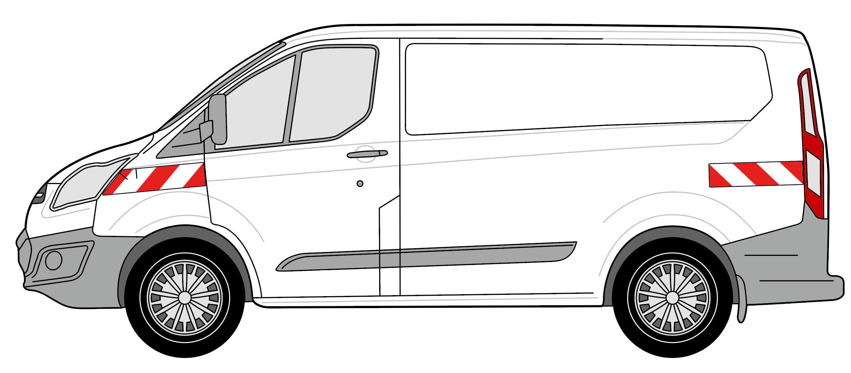 Ford Transit Custom Heckflügeltüren 2012/04-2018/03